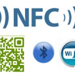 NFC, QR, Bluetooth, Wifi